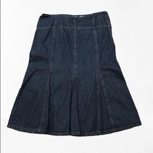 Vintage denim skirt, Liz & Co 90s trumpet style 12